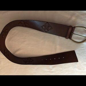 Express wide Genuine leather brown belt size M